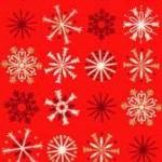 1796_R_Metallic Snowflakes Red