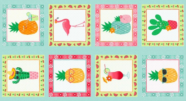 1950/1 Fruity Friends Panel (Each Square 10″)