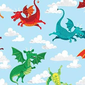 2056/B DragonHeart Dragons Blue