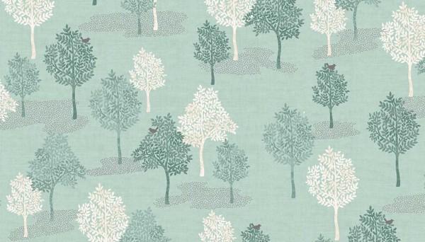 2062/T Woodland Trees Turquoise