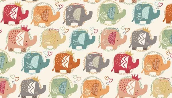 2066/T Ellie Elephants Turquoise