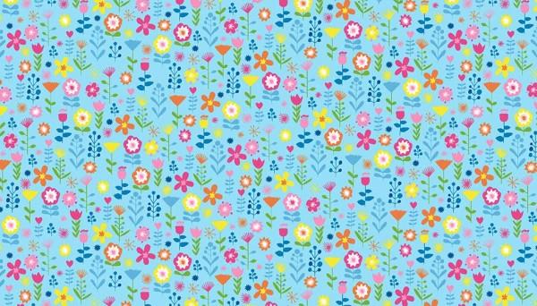2067/B Ellie Floral Blue