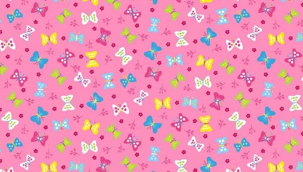 2068/P Ellie Butterflies Pink