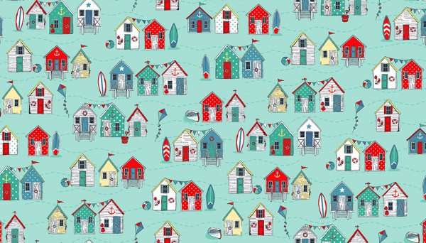2080/T Beach Huts Turquoise