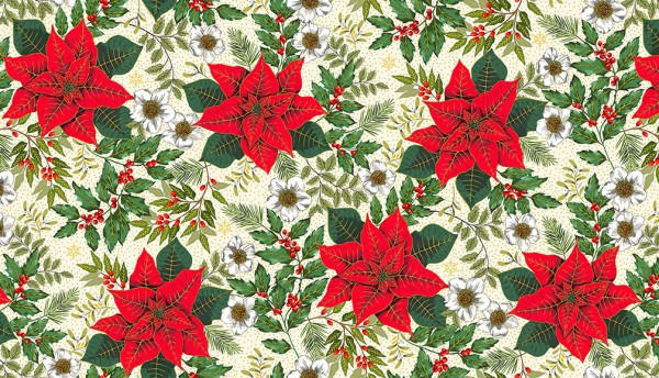 2090/Q Large Poinsettia Cream