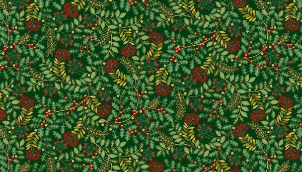 2093/G Leaf Swirl Green