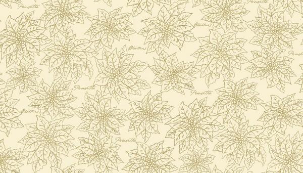 2096/Q Poinsettia Outline Cream