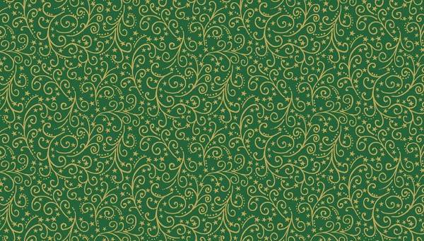 2097/G Metallic Scroll Green