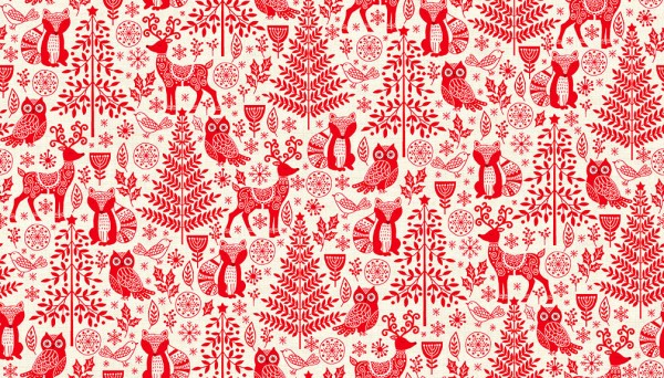 2125/R Forest Animals Red