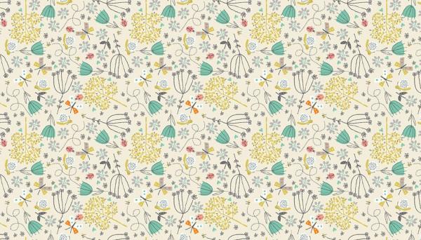 2142/Q Flowers Cream