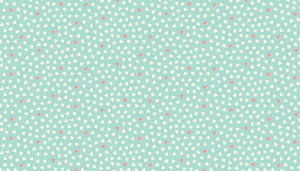 2147/T Hearts Turquoise