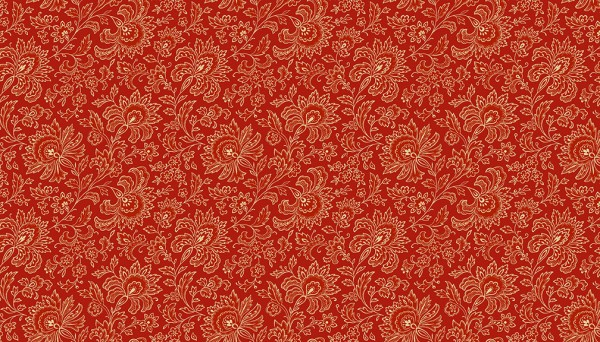 2/9085R Small Jacobean – Red
