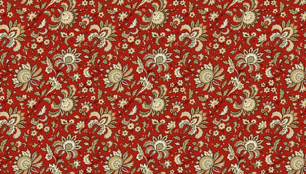 2/9085RN Small Jacobean – Crimson
