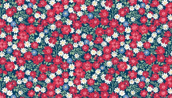 2/9362B Flowerful Vines – Blue