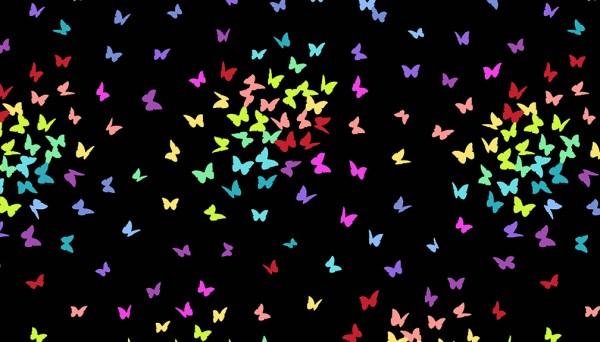 2/9425K Butterflies – Black