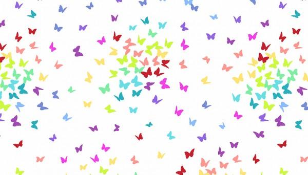 2/9425L Butterflies – White