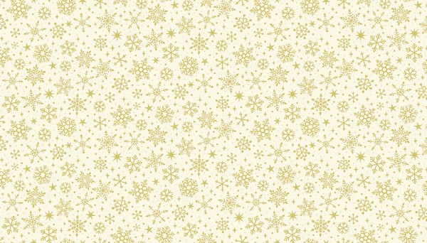 2246/Q Snowflakes Metallic Cream