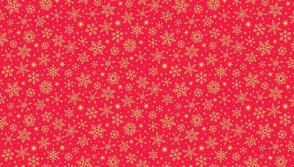 2246/R Snowflakes Metallic Red