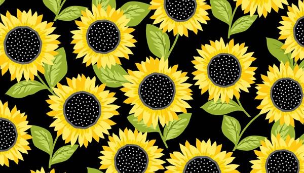 2/9431K Sunflowers – Black