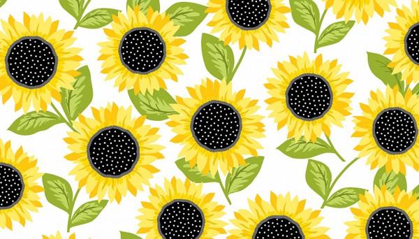 2/9431L Sunflowers – White