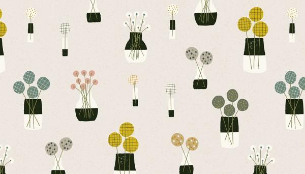 2/9564C Flower Vases – Stone