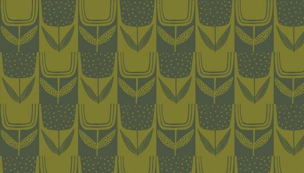 2/9567CG Square Posies – Olive