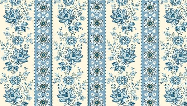 2/9578B Floral Stripe – Blue Bell