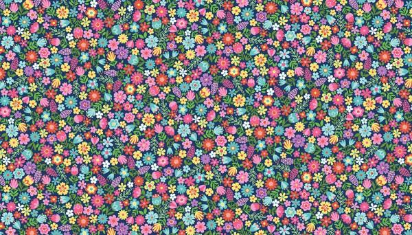 2280/B Floral – Blue