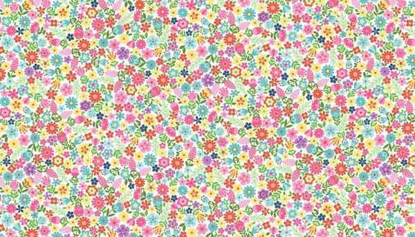 2280/W Floral – White
