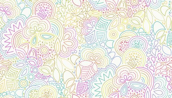 2/9702 L Rainbow Stitched