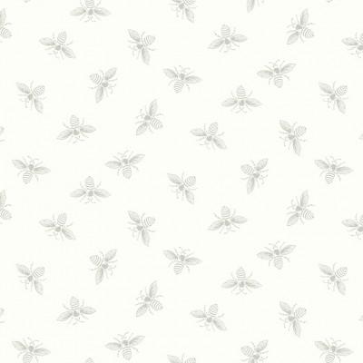 9084/LC1 Bees White Wisp